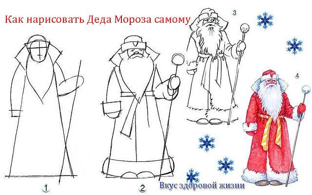 открытки деду морозу своими руками для детей поэтапно - Самоделкины